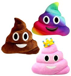 Emoji Poop Pillows 3 Piece Set 12 Inches Large Plush Emoji Poop Pillow Set *** More info could be found at the image url. (This is an affiliate link) Poop Pillow, Pillow Set, Plush Pillow, Cushion Pillow, Large Emoji, Kids Playing, Cute Kids, Rose, 3 Piece