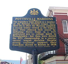 "#TriviaTuesday Sportswriters & fans still refer to this match up between the Pottsville Maroons and _____ ____ as ""The Greatest Football Game Ever Seen.""   Name the team who played the Pottsville Maroons in December 1925 & lost.   #Football , #game , #Trivia , #NFL https://www.facebook.com/PATrailsofHistory/posts/10152624190072669"