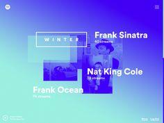 Spotify Year in Music 2015 - Digital Site | Colourful Music Playlists Website Design Inspiration | Award-winning Digital Design