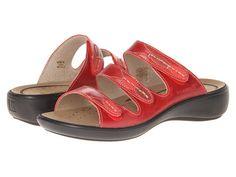 Romika Ibiza 20 3Strap Wedge Slide leather red(na), white, ocean(na), platinum, bronze(na), brandy(na), black 1.5h sz38 120.00 3/16