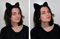 Yeah the perfect cat ears Pattern and I can add my favorite stretchy headband DIY tutorial