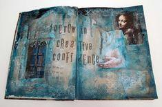 Inky Dinky Doodle: Wanderlust Week 01: Journal Page Creative Confidence