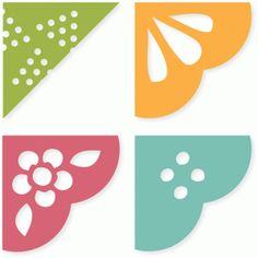 Silhouette Design Store - View Design #77007: spring garden photo corners