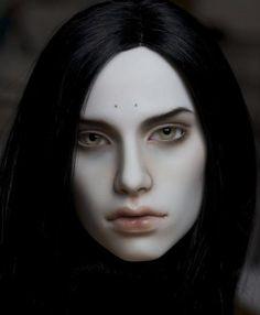 Harlequin resin bjd head