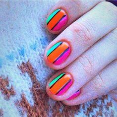 #nails  #art #design #bright #summer #nailsart #nailsdesign