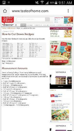 Cutting down a recipe Cut Down Recipe, Cake Decorating Tips, Recipe Using, Recipes, Ripped Recipes, Cooking Recipes, Medical Prescription