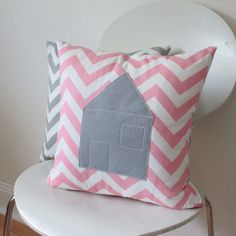 House Throw Pillow Cover, made to fit a size 18 (40 cm) insert on Etsy, $35.00 AUD