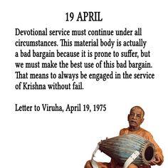 Srila Prabhupada's Quotes In April April Quotes, Daily Quotes, Radha Krishna Quotes, Krishna Art, February Month, Krishna Leela, Srila Prabhupada, S Quote, Full Quote