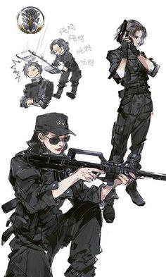 """Xiao Ma, Cangyun (Ashen Cloud) from """"Yi Chui Wu Yue Tiao Man Ji"""" by Ibuki Satsuki 伊吹五月 Character Concept, Character Art, Concept Art, Anime Art Girl, Anime Guys, Art Sketches, Art Drawings, Anime Military, Drawn Art"""