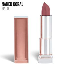 Maybelline New York Color Sensational Inti-Matte Nudes Lipstick, Naked Coral, Ounce, 1 Count Maybelline Creamy Matte Lipstick, Drugstore Lipstick, Nude Lipstick, Drugstore Beauty, Lipsticks, Plum Lips, Cover Girl Makeup, Color Sensational, Facial Cleanser