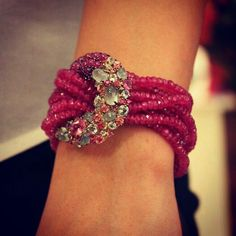 @thejewellcloset Stunning Diamond, Ruby Beads &Moonstone  Bracelet .