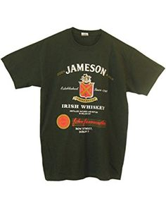 a5e07207dfd Amazon.com  Simhood Men s Jameson Logo Short Sleeve T-Shirt  Clothing.  Whiskey LogoJameson Irish ...