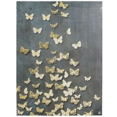 Butterflies Art - Steel Blue - DIY large version for Munch's room for MUCH cheaper than $230