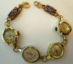 Steampunk Chic Recycled Vintage Watches And by Recycloanalyst, $45.00