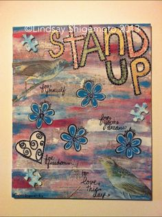 Stand Up Mixed Media canvas