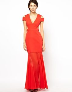 Image 1 ofBCBGMAXAZRIA Red Carpet Wow Dress with Off Shoulder Detail