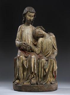 The Apostle John on the breast of Christ - about 1310. Stylistic origin: Bodensee. © Foto: Skulpturensammlung und Museum für Byzantinische Kunst der Staatlichen Museen zu Berlin