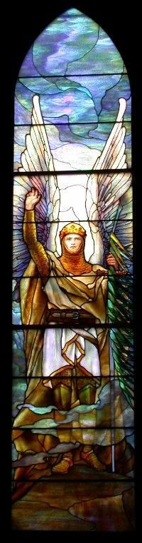 Archangel Michael/Tiffany's Warrior Angel series.N.Y. 1914