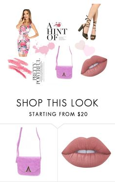 """""""Prissy in pink"""" by amiclubwear ❤ liked on Polyvore featuring Lime Crime, floral, chunkyheel and popofpink"""