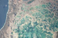 Pacific Reef photo taken by astronaut from the International Space Station
