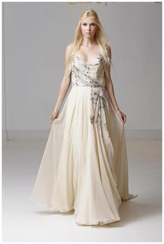 Wedding dress by Carol Hannah from the 2015 collection.