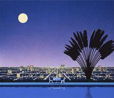 by Hiroshi Nagai Cali, Nostalgia Art, 8 Bits, Vaporwave Art, Spaceship Art, Retro Background, Retro Waves, Photo Wall Collage, Retro Art