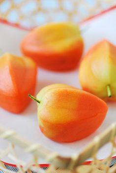 """ほおずき""""ground cherry"""" on the tea ceremony Namagashi"""