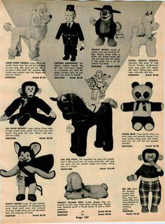 1962 AD Stuffed Play Toy Mighty Mouse Deputy Dawg Captain Kangaroo Mickey Mouse