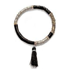 Black Sequin Tassel Bracelet
