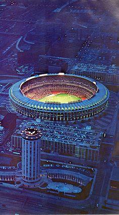 Busch stadium in St. Louis, 1972.