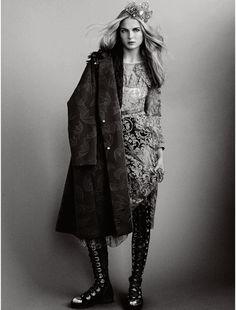 Burberry dress | Onde Upon A Time: Elle UK December 2014 by Bjarne Jonasson