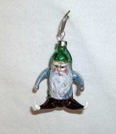 RARE Old Freeforming Christmas Ornament Lauscha 1920 1960 Dwarf | eBay