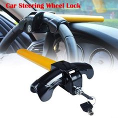 Steering Wheel Lock 5 Digit Combination Anti-Theft Extendable Double Hook Car Security Device Universal Vehicle Truck Van SUV Keyless Password Coded Twin Hooks Retractable Heavy Duty Guard Anti Theft