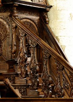 Enkhuizen, Noord-Holland, Westerkerk, pulpit, cuppa, detail