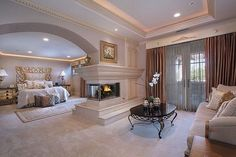 3 Comfortable and Modern Bedroom with Fireplace - We all need a warm bedroom to have the quality sleep. Try these comfortable and modern bedroom with fireplace. Dream Rooms, Dream Bedroom, Home Decor Bedroom, Modern Bedroom, Bedroom Ideas, Trendy Bedroom, Lux Bedroom, Bedroom Setup, Fantasy Bedroom