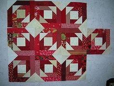Made using Pineapple Blossoms pattern: http://quiltville.com/pineappleblossom.shtml