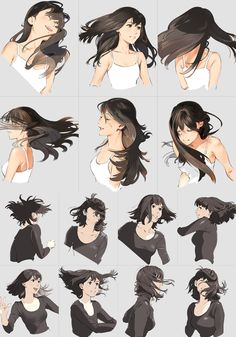 Hair in moviment  It's almost confusing because the hair has so much animation and the pose is not moving. I almost expect a gif