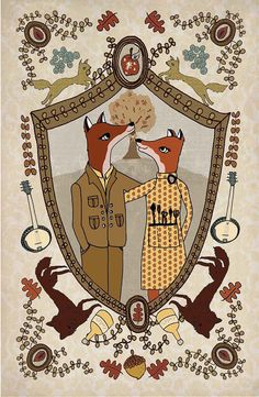 Foxes in Love Art Print by Andrea Lauren Books Art, Fantastic Fox, Amazing, Drawn Art, Poster Prints, Art Prints, Posters, Fox Art, Family Crest