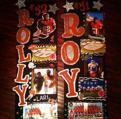locker signs for football players Cheerleader locker signs