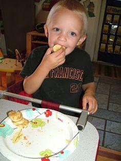 Child eating good food for diabetics