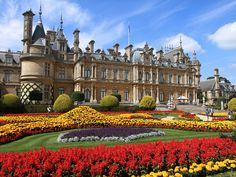 photo by erosb3k on Flickr.  Waddesdon Manor is a country house in Buckinghamshire, England. The house was built in the Neo-Renaissance style of a French château between 1874 and 1889 for Baron Ferdinand de Rothschild.