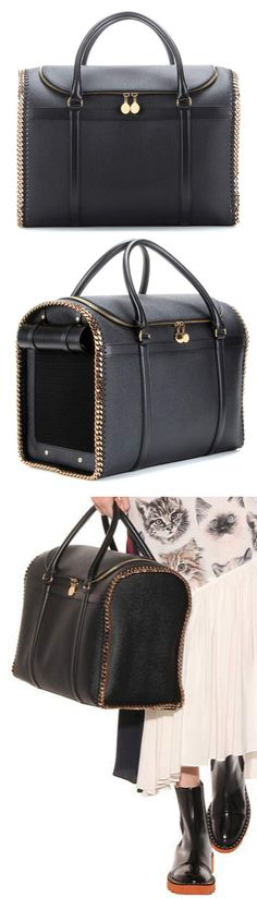 970b908072c6 Luxury Cat Carrier - Stella McCartney Falabella bag carries your kitty in  chic sophisticated style.