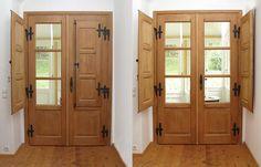 Haustüren aus Massivholz in Österreich   Rusticatio Türen und Fenster House Doors, House Entrance, Pula, China Cabinet, Tall Cabinet Storage, Shabby, Room, Home Decor, Art
