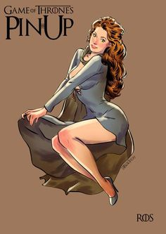 Game of Thrones Characters Drawn in Pin-Up Style