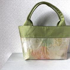 帯バッグ〜薄黄緑〜の画像