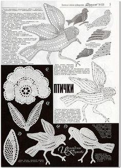 irish crochet motif robins