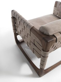 Wooden #armchair with armrests Bungalow Collection by @riva1920    #design Jamie Durie