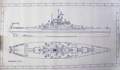Wonderful 11 x 17 blueprint of the WW II Battleship USS Alabama. Made the old-fashioned way - with ammonia activated paper on a Diazit blueprint Uss Alabama, Poop Deck, Windows Wallpaper, Mobile Alabama, Naval History, Just A Game, United States Navy, Battleship, South Dakota