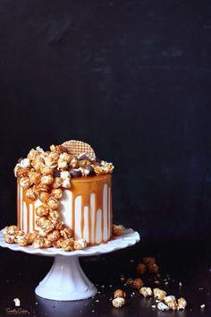 pop corn drip cake