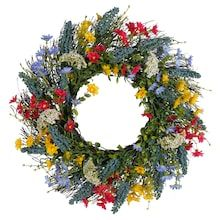 Summer Wreath, 4th Of July Wreath, Flower Reef, Frame Crafts, Wreath Crafts, How To Make Wreaths, Dried Flowers, Grape Vines, Christmas Wreaths